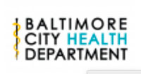 Official logo for the Baltimore City Health Department.